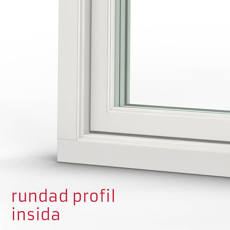 Tanum Fönster Rundad Profil Trä Alu Insida