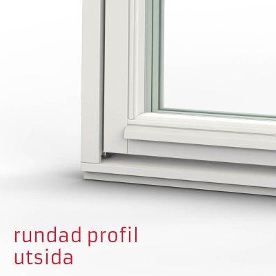 Tanum Fönster Rundad Profil Trä Utsida