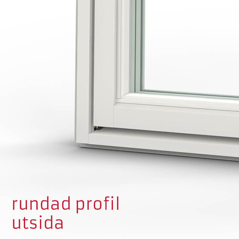 Tanum Fönster Rundad Profil Trä Alu Utsida
