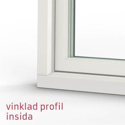 Tanum Fönster Vinklad Profil Trä Insida
