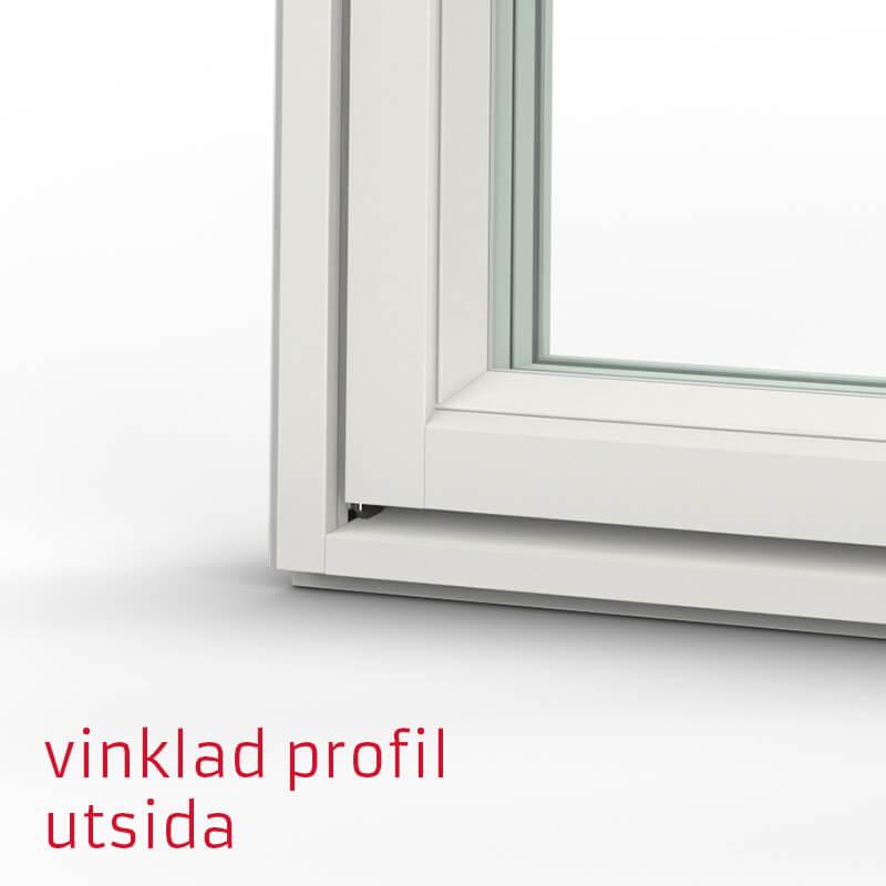Tanum Fönster Vinklad Profil Trä Alu Utsida