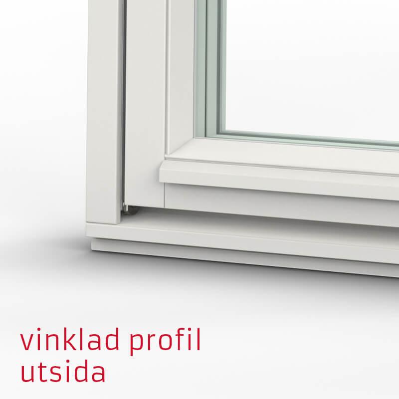 Tanum Fönster Vinklad Profil Trä Utsida