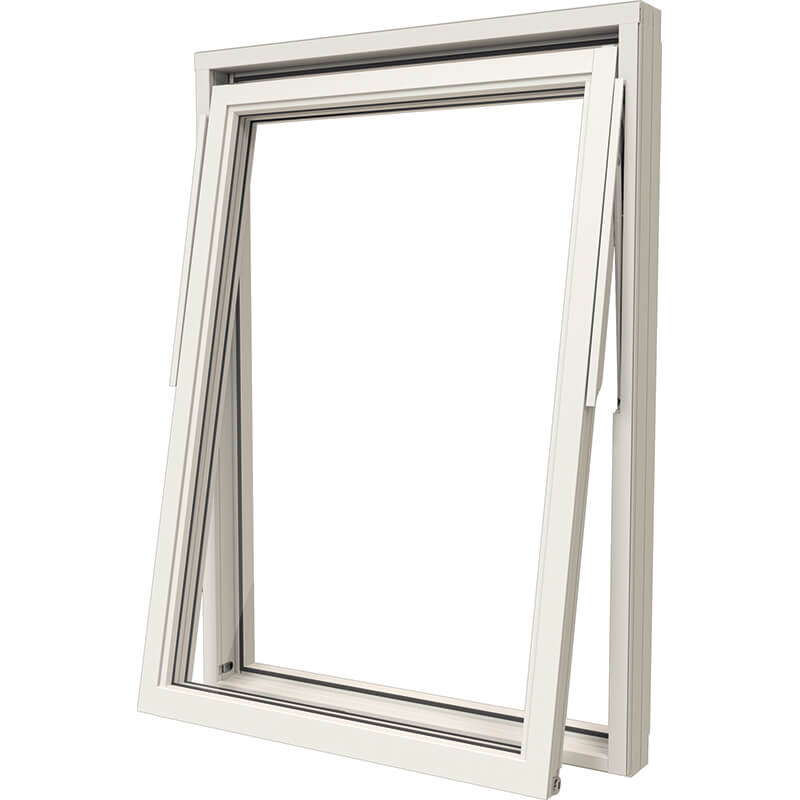 Vridfönster Helvit – Trä/Alu – NTech – Kort leveranstid