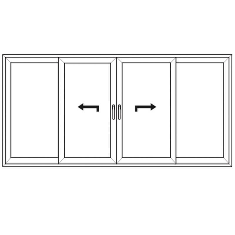 4-Delad Lyftgliddörr – PVC – uPVC