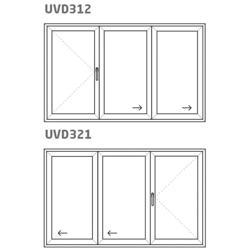 Vikdörr UVD321/312 – PVC – uPVC