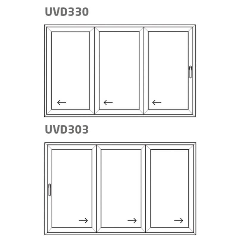 Vikdörr UVD330/303 – PVC – uPVC