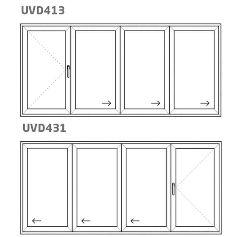 Vikdörr UVD431/413 – PVC – uPVC