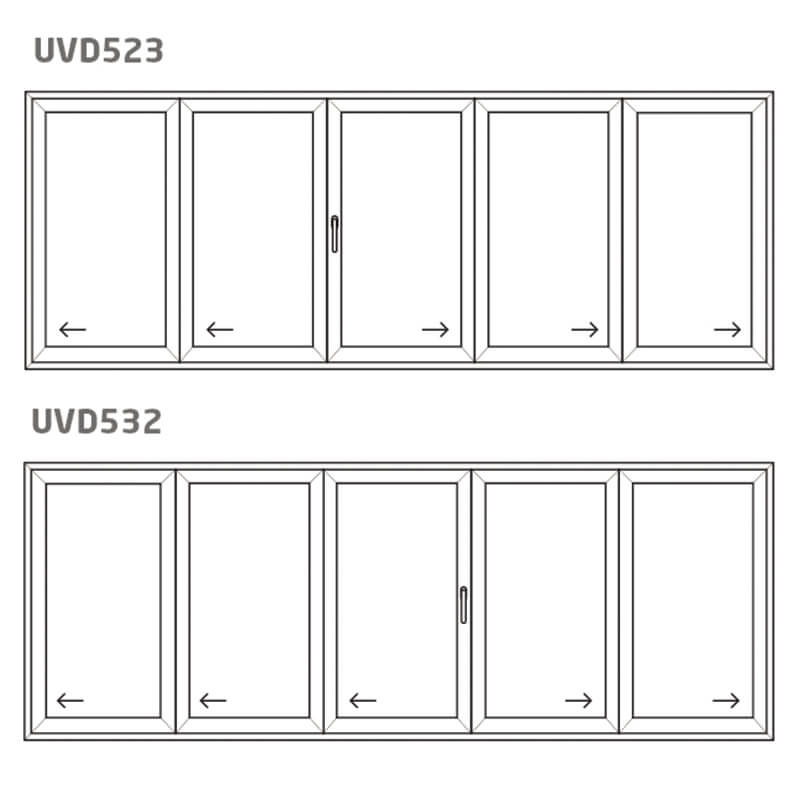 Vikdörr UVD532/523 – PVC – uPVC