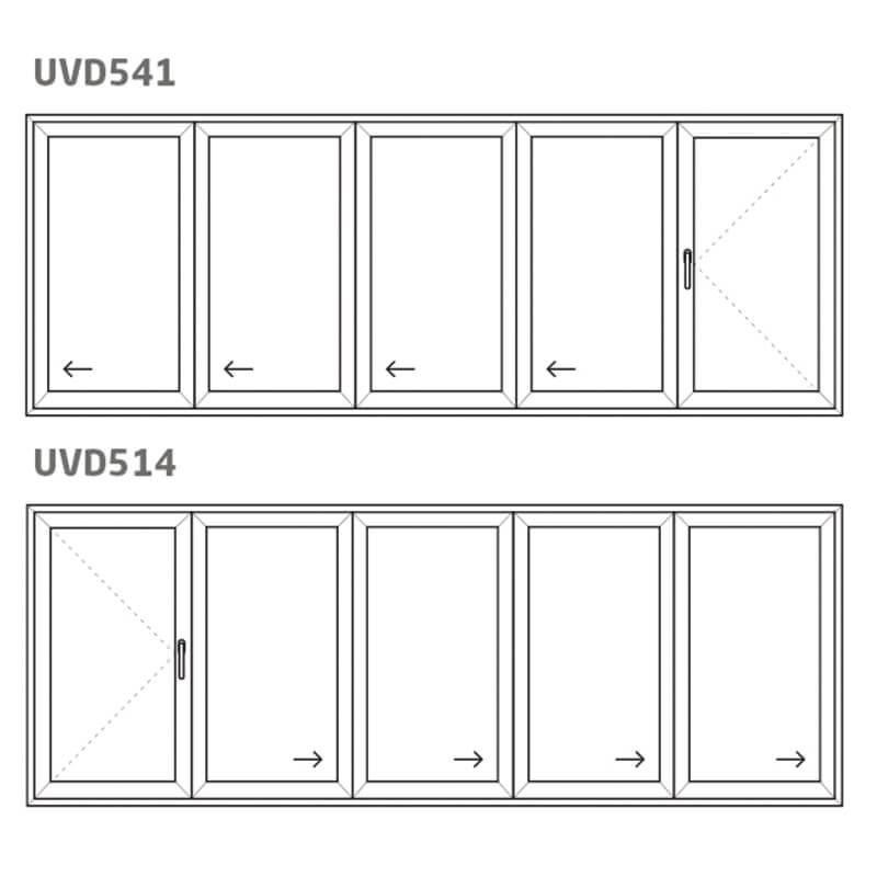 Vikdörr UVD541/514 – PVC – uPVC