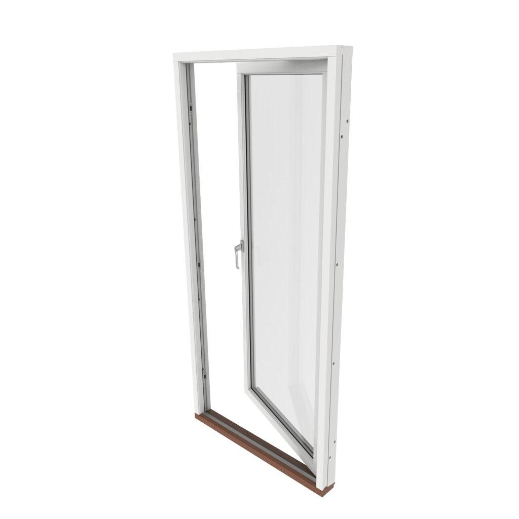 Enkel Altan/Balkongdörr 2 Glas – Trä – Outline