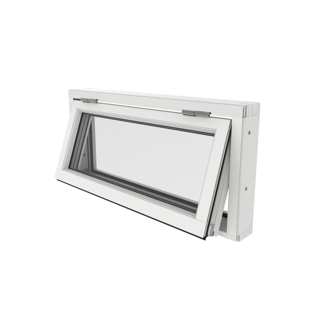 Överkantshängt Fönster – Trä/Alu – Outline