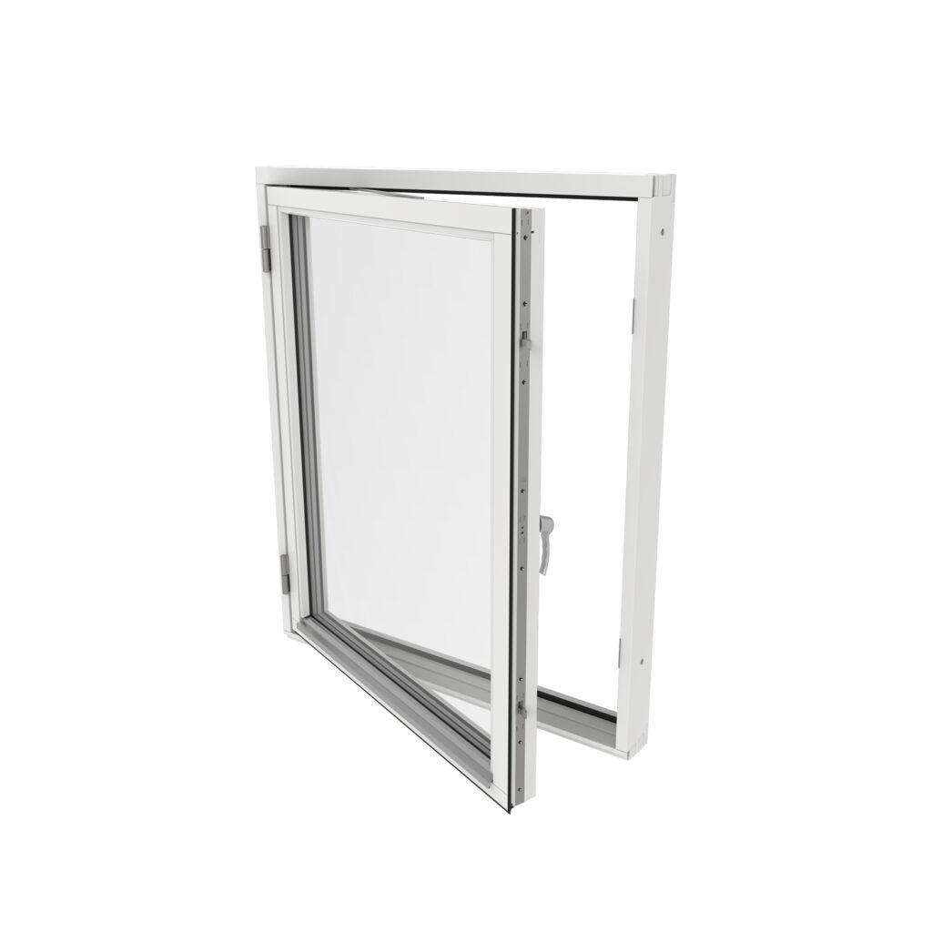 Sidohängt Fönster 1 Luft – Trä – Outline