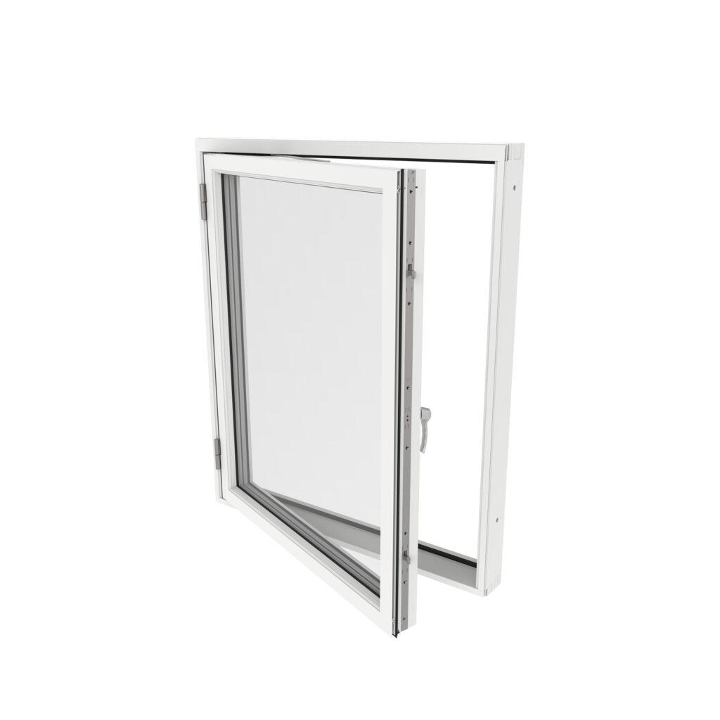 Sidohängt Fönster 1 Luft – Trä/Alu – Outline