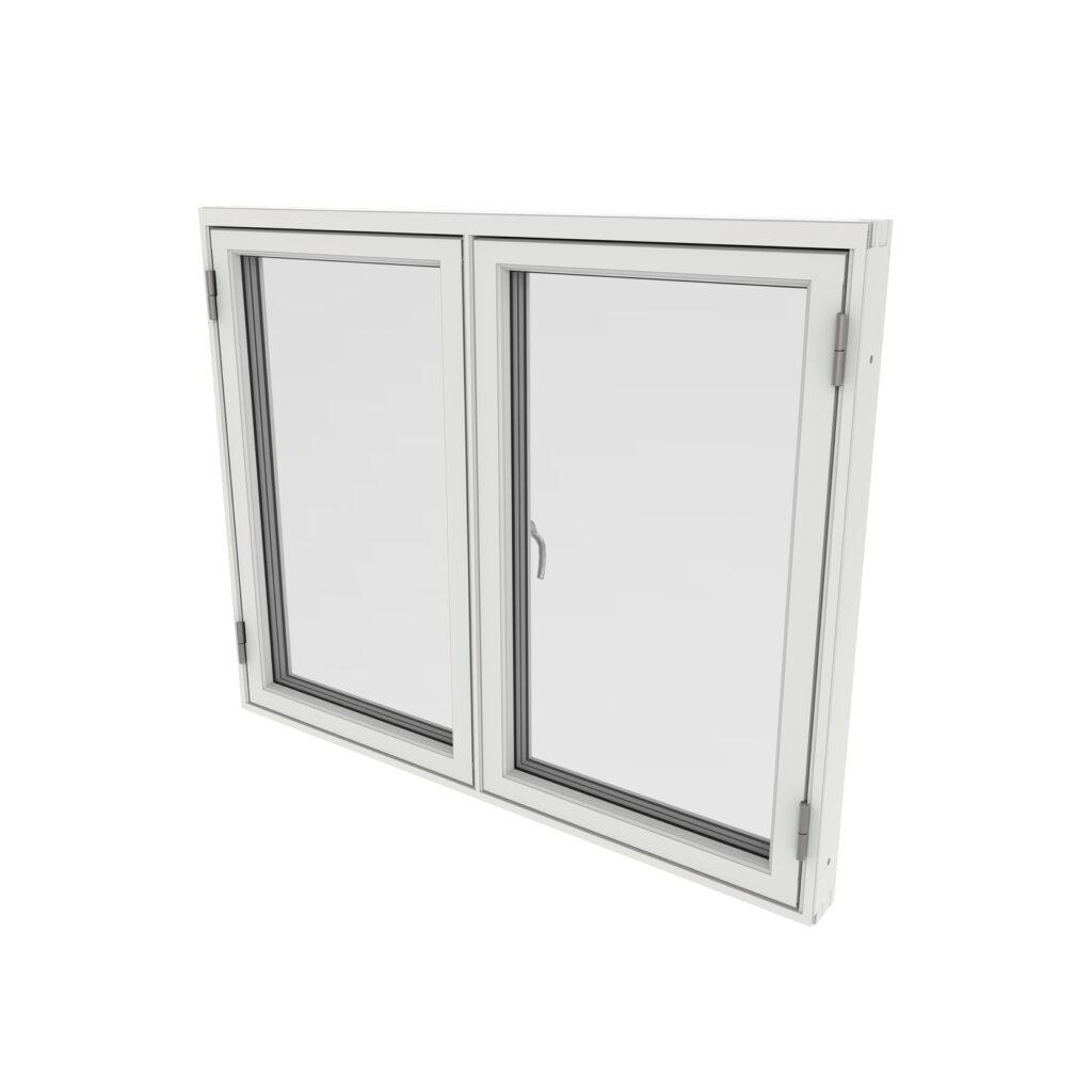 Sidohängt Fönster 2 Luft – Trä/Alu – Outline