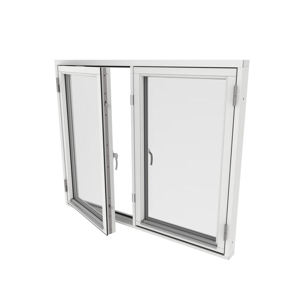 Sidohängt Fönster 2 Luft – Trä – Outline