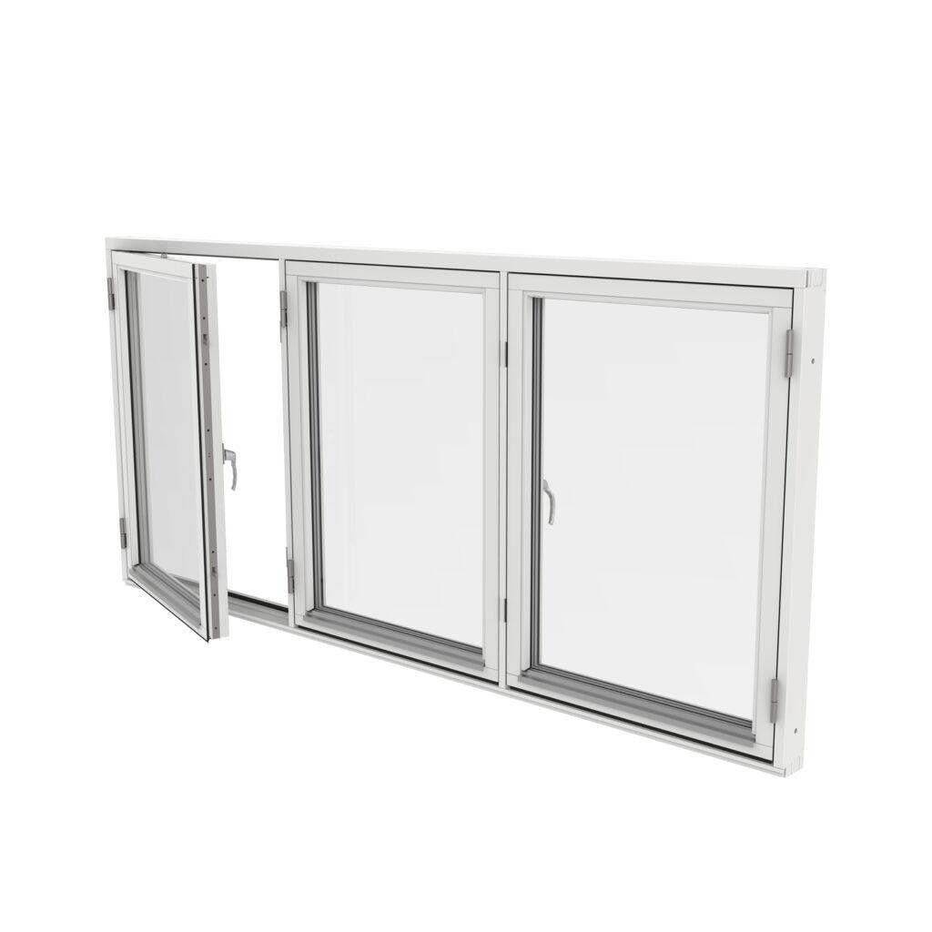Sidohängt Fönster 3 Luft – Trä – Outline
