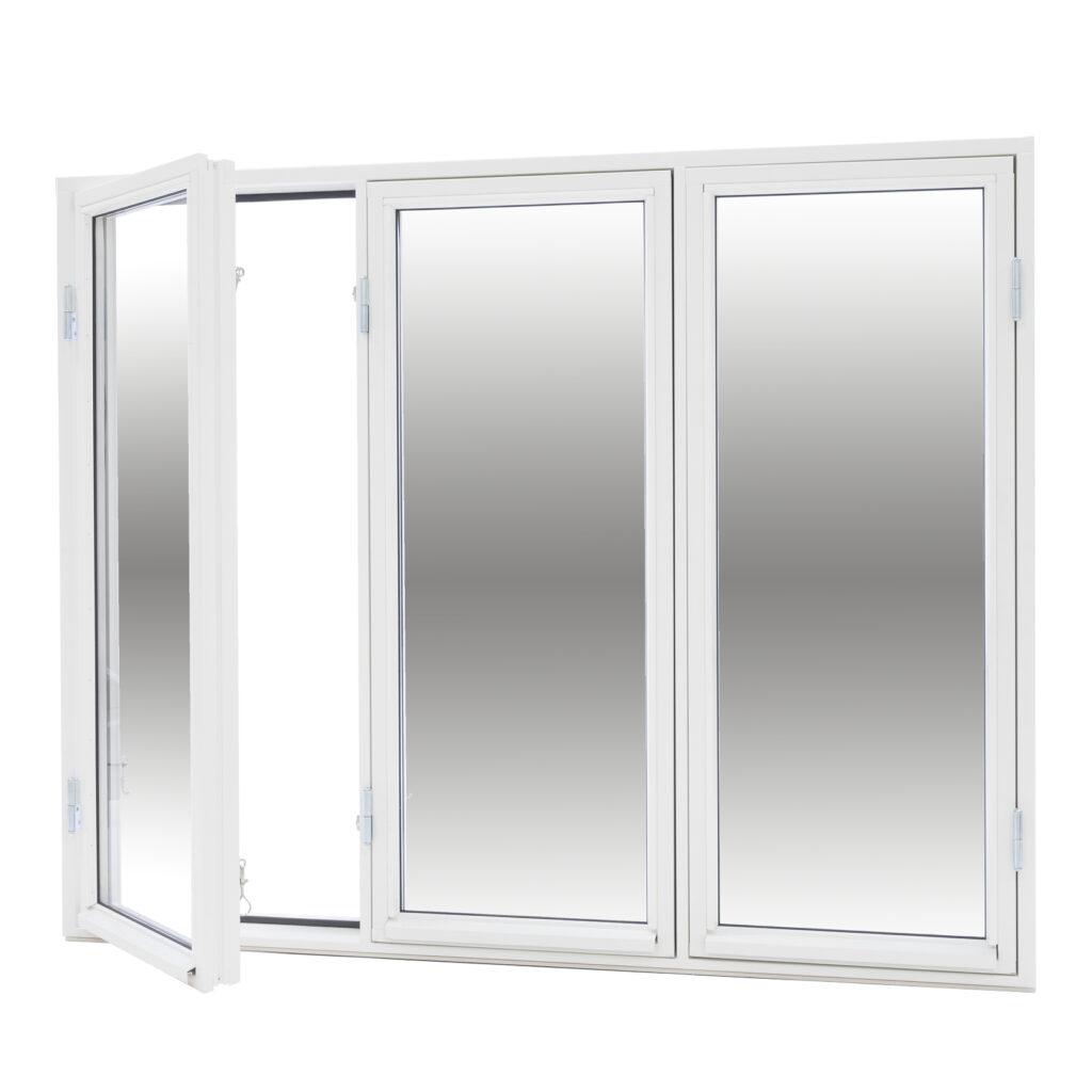 Sidohängt 3 Luft 2 Glas – Trä – Flex Fönster
