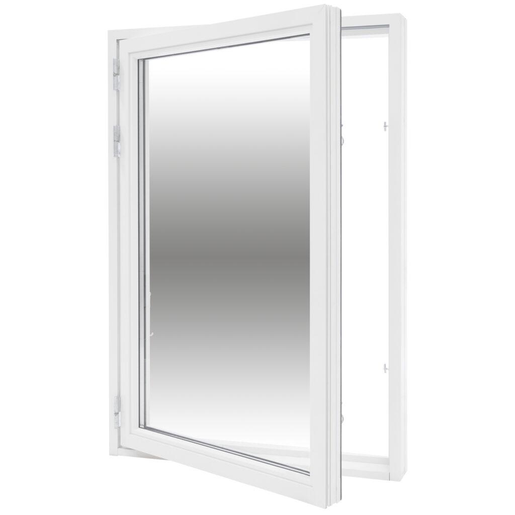 Sidohängt 1 Luft 2 Glas – Trä/Alu – Flex Fönster