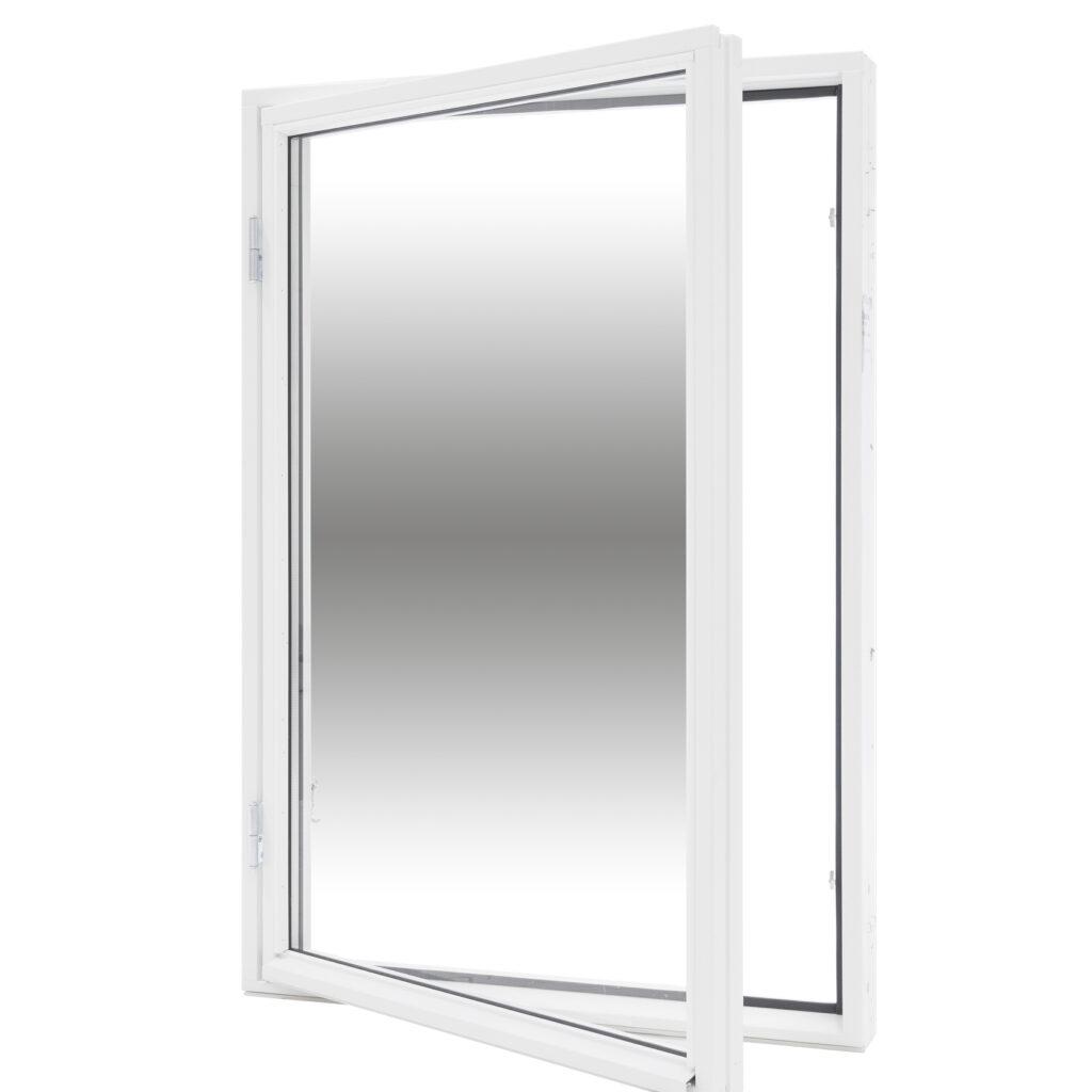 Sidohängt 1 Luft 2 Glas – Trä – Flex Fönster